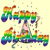 Happy Birthday Animated Graphics | Animated gifs happy birthday, cake, balloons, clowns