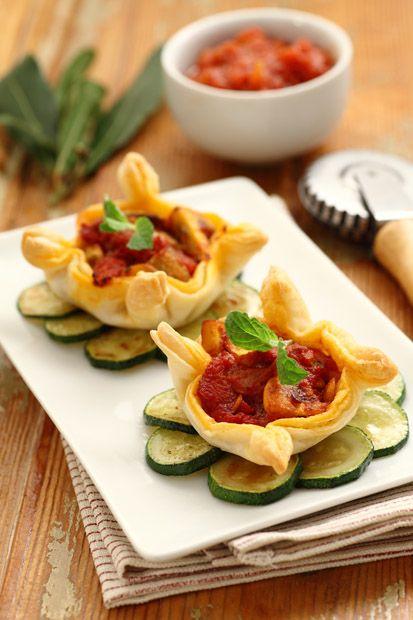 #Fagottini ai #funghi || #Cirio, gusta la nostra #ricetta. #mushroom #recipe #tomato #pomodoro #appetizer #fingerfood #zucchine #zucchini