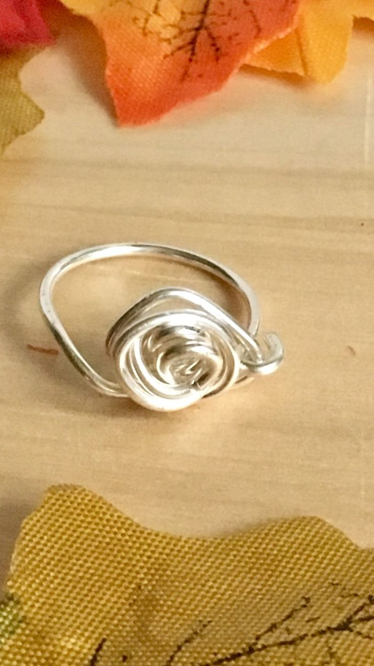 A silver wire wrap ring, girlfriend ring, one of a kind, wire wrap ring , gift for her, by ValeriesJewellery on Etsy