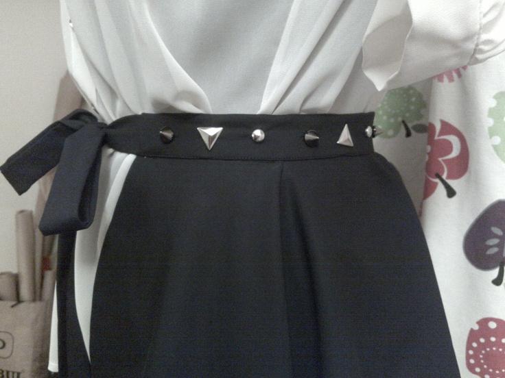 zımbalı peplum kemer (studded peplum belt)