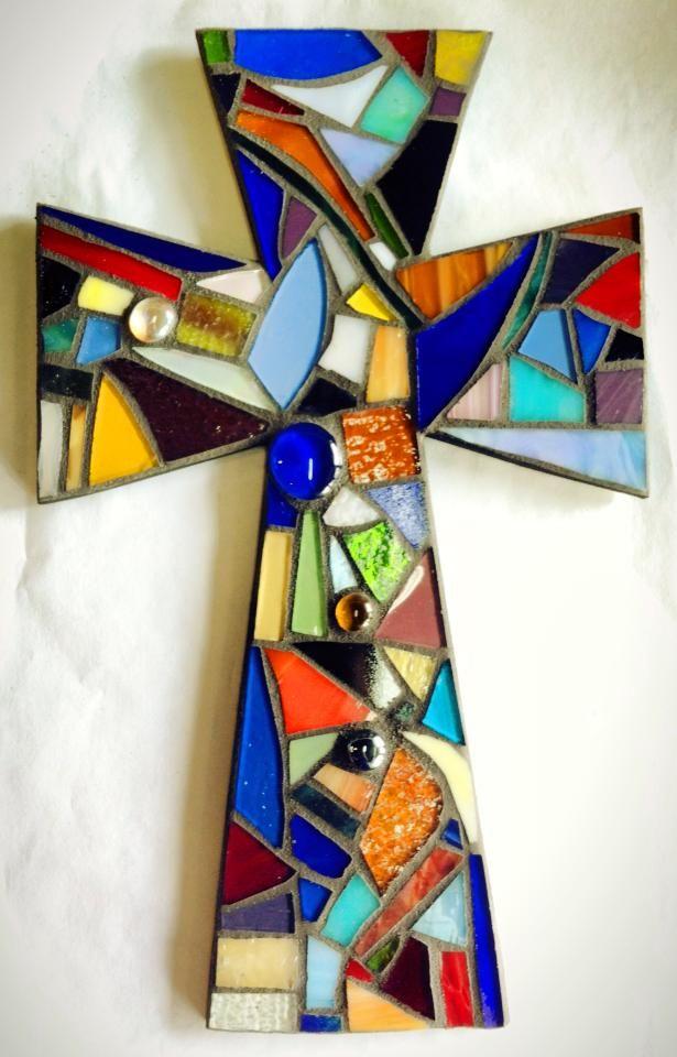 colorful mosaic cross