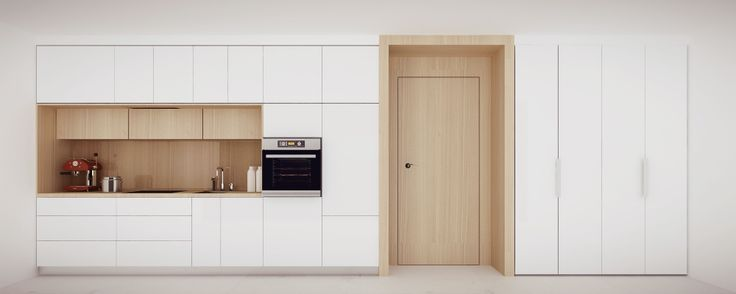Projekt białej lakierowanej kuchni - meble na zamówienie MBVision
