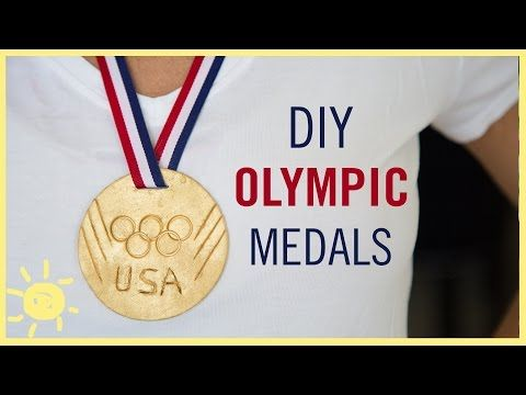 DIY | Olympic GOLD Medals - YouTube