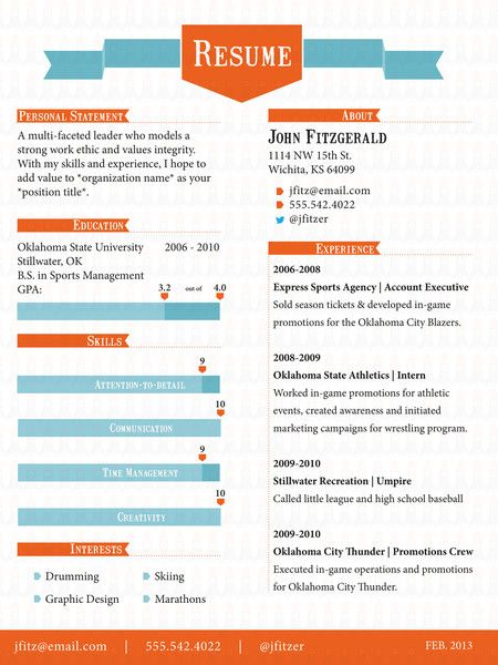 The Ribbon - Resume Template