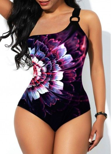 Dazzle Color Ring Detail One Piece Swimwear | modlily.com – USD $27.05