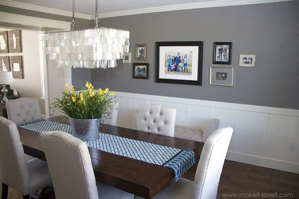 Great Beadboard Dining Room 2 Dining Room With Chair Rail Chairrail Grey Dining Room Dining Room Paint Dining Room Walls