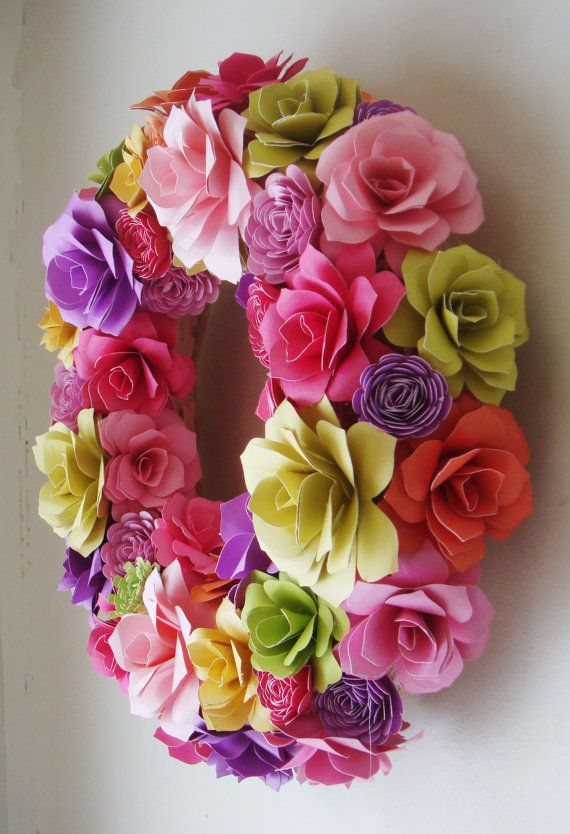 Paper Flower Spring Summer 12 to 13 Inch by RubysPaperFlowers