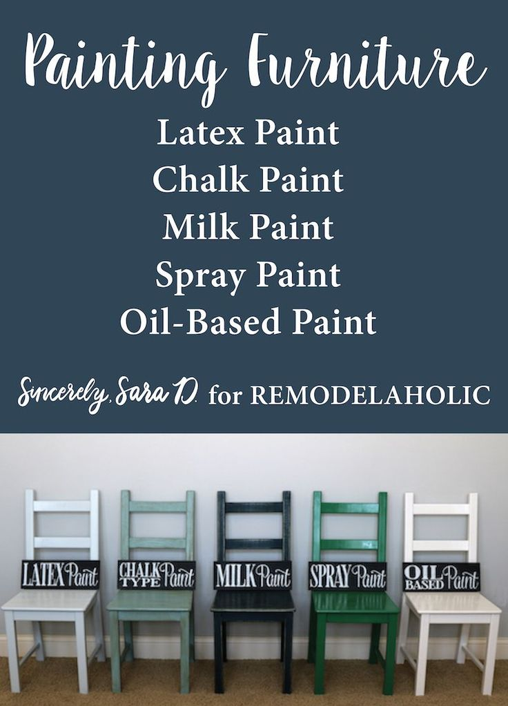 Unlock the secrets to painting furniture with this detailed step-by-step tutorial of painting furniture using 5 different types of popular paint: chalk paint, milk paint, latex paint, oil paint, and spray paint.