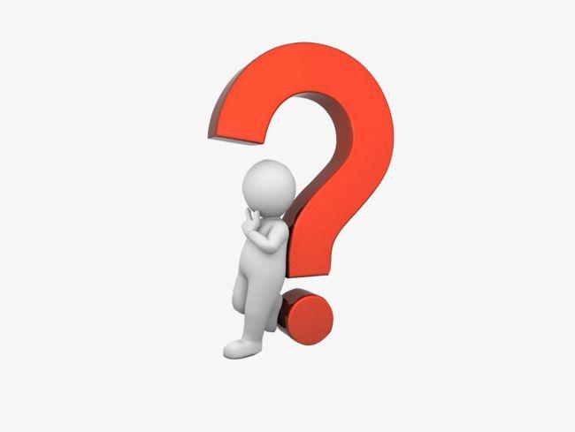 Question mark thinking. A man dl clipart