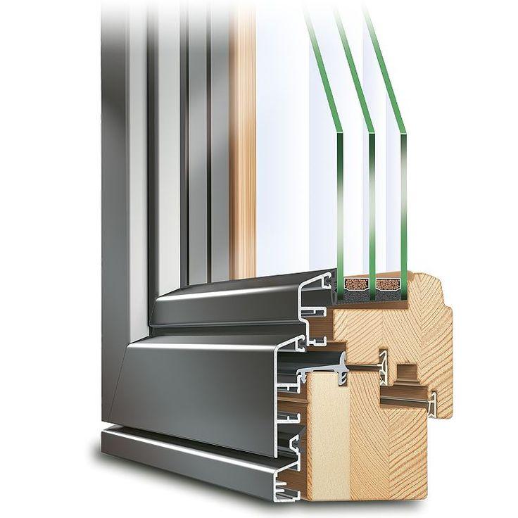 Holz-Alu Balkontür ECO Idealu Profilecke