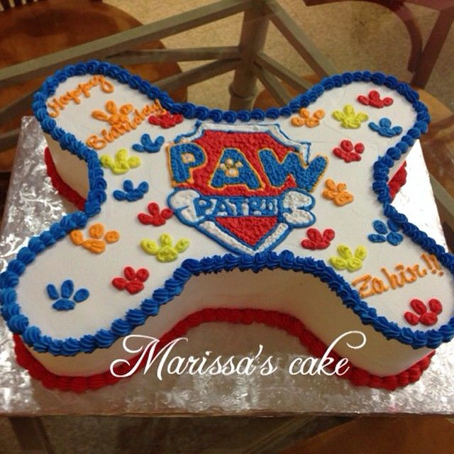 Paw patrol birthday cake. Visit us Facebook.com/marissa'scake or www.marissa'scake.com