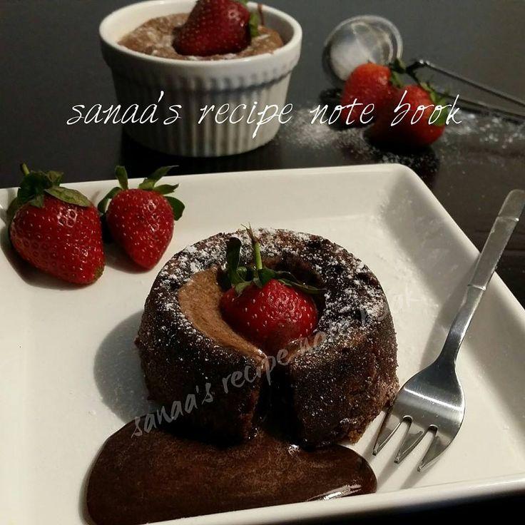 very simple recipe for  Molten Chocolate Lava Cake