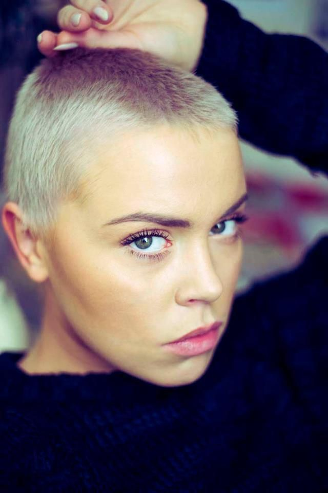 how to make a buzz cut look girly