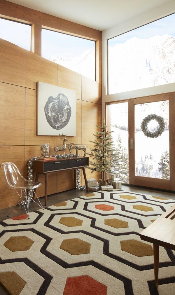 Design 101 Mid Century Modern Christmas Overstock Com Living Room Decor Modern Mid Century Modern Christmas Modern Christmas Decor #record #player #in #living #room