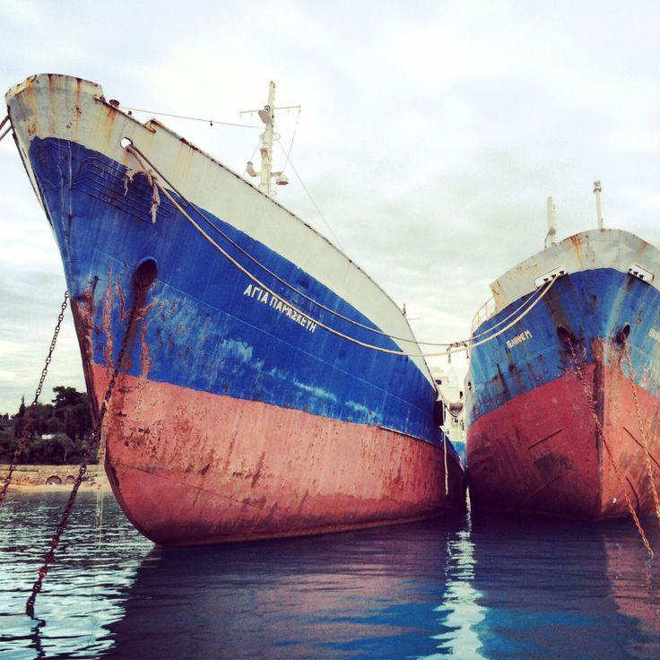Ships anchored