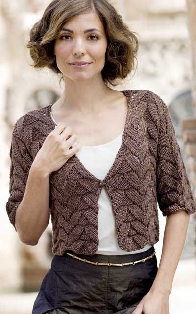Irish crochet &: KNITTING BOLERO