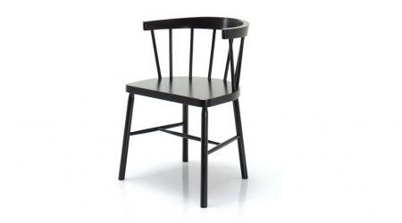 Czarne krzesło Go In Grand Bistro 0900 z szerokim oparciem