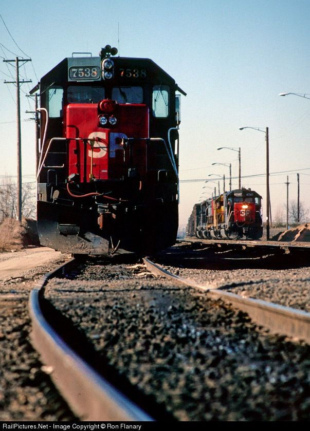 RailPictures.Net Photo: SP 7538 Southern Pacific Railroad EMD SD45 at Roseville, California by Ron Flanary