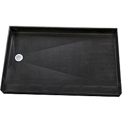 Are you preparing for a bathroom remodeling project? This black tile-ready shower pan is an affordable way to finish that project, and its easy-to-install design will save you time and effort. This po