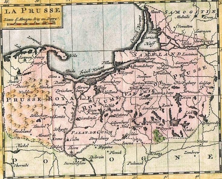 DANZIG KÖNIGSBERG PREUSSEN POLEN GDANSK KOL KUPFER KARTE SANSON 1752 AD  A58 de.picclick.com