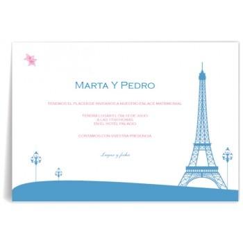 Invitaciones de boda París