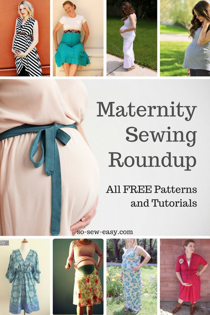 Maternity Sewing Patterns and Tutorials Roundup:  All FREE