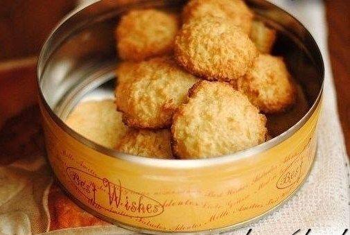Быстрое кокосовое печенье без муки рецепт