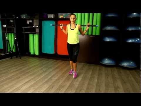 Exercitii de aerobic folosind bara cu Gerda Dumitru