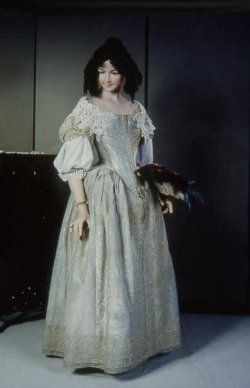 This is a dress from 1660.  I don't recall whether this was an original or a repro.