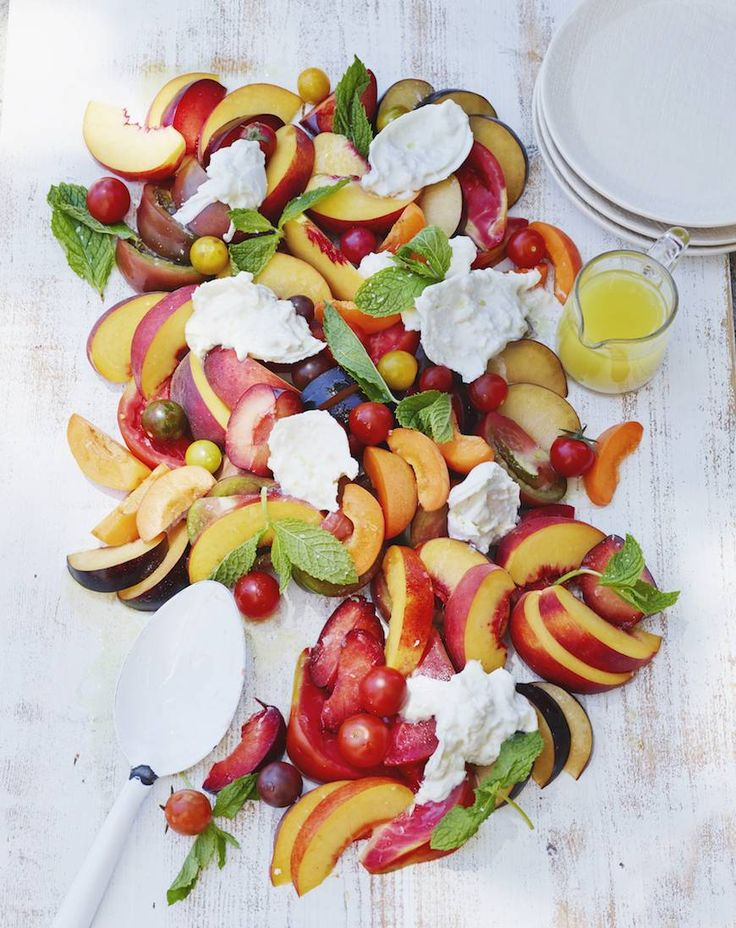 Stone Fruit and Burrata Salad - What's Gaby Cooking