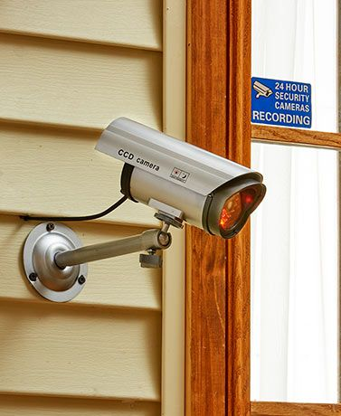 Scare criminals away with this Indoor/Outdoor Dummy Camera with LED. It presents an authentic look that will stop trouble before it starts. Comes with a warning