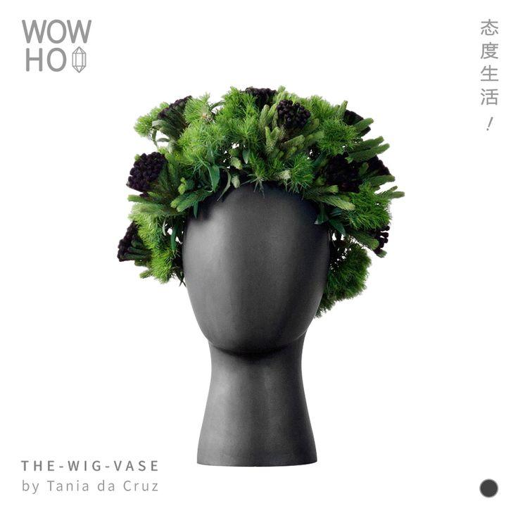 [WOWHOO]The Wig Vase by Tania da Cruz创意陶瓷艺术人头插花瓶-淘宝网