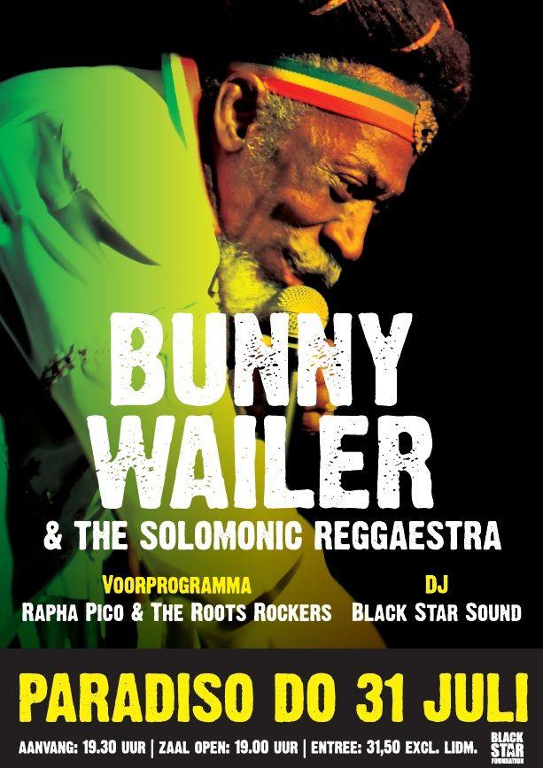 Bunny Wailer in Paradiso (Amsterdam), 2014