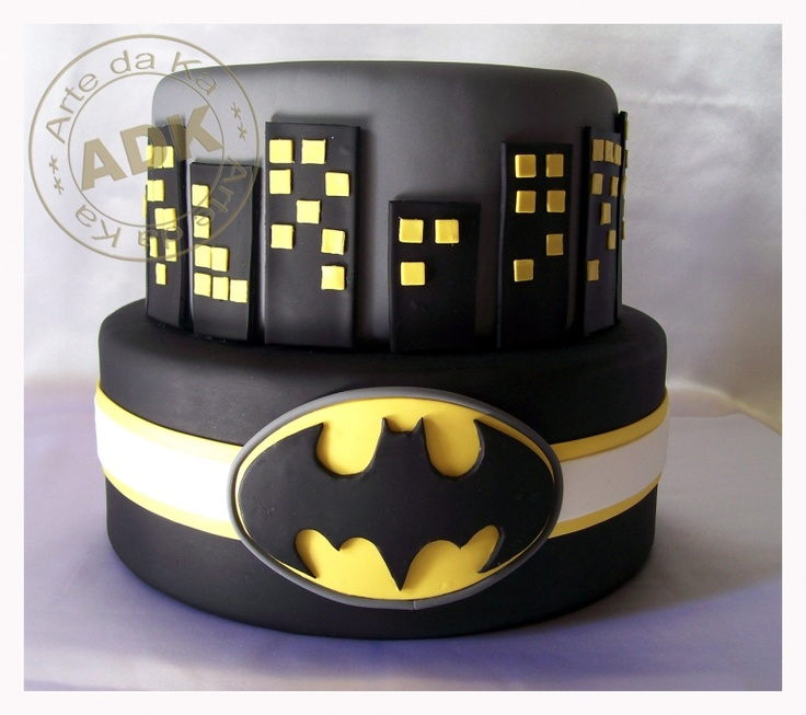 Batman Cake...  Maybe put Batman Lego pieces on top? Braydon's 5th birthday.
