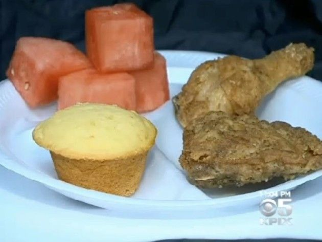 Black History Month School Lunch of Fried Chicken, Watermelon Sparks Controversy- really!!?!-smh