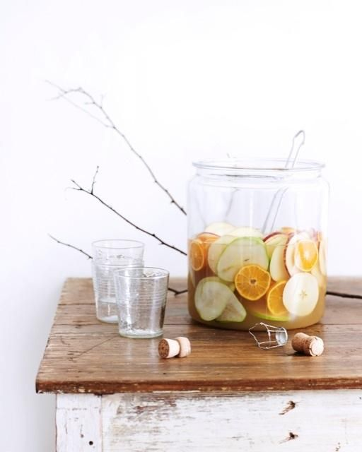Autumnal Sparkling Sangria... my go-to Fall drink!