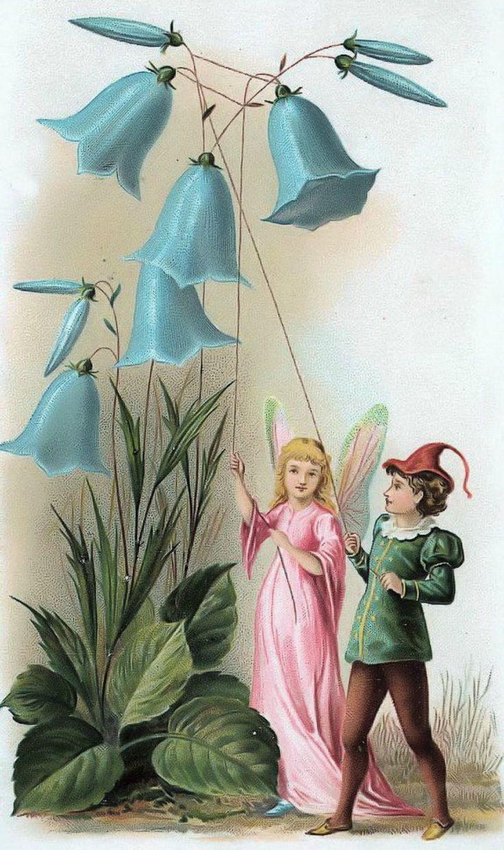 Дюймовочка открытка, цветком