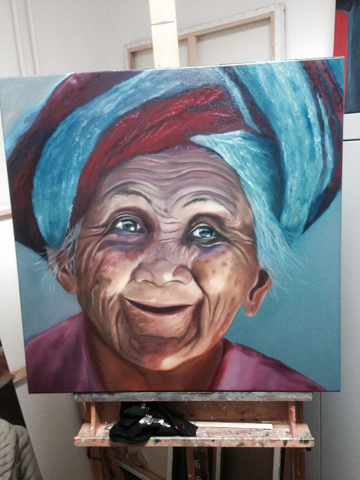 Oil painting .. Granny