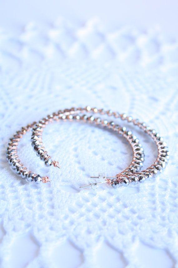 Orecchini wire wrapped cerchi a perno di SusyDeMarchiJewelry, €21.50