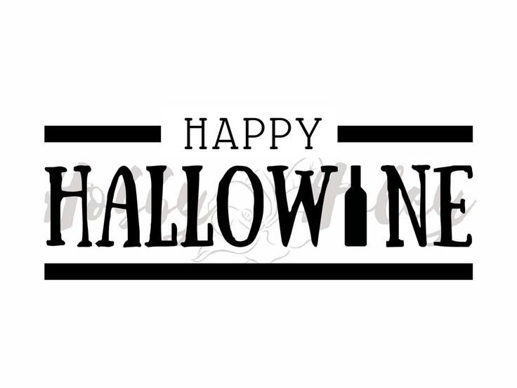 Happy Hallowine Wine Halloween Silhouette digital cut file SVG by HobbyHaley on Etsy