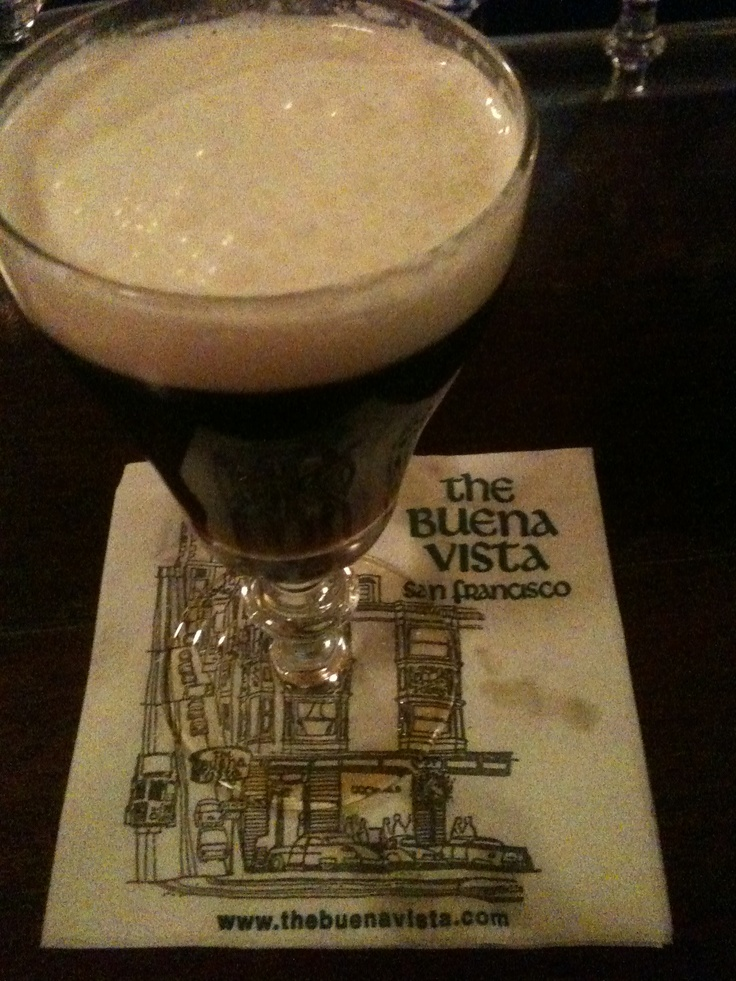 There is nothing like an Irish Coffee from the Buena Vista restaurant in San Francisco, California.
