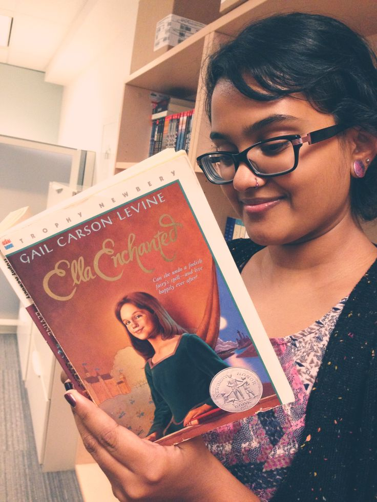 """Sam is thankful for Ella Enchanted  by Gail Carson Levine, because it was the first book that inspired her to be a writer. If you know a young, inspiring writer stayed tuned for Levine's upcoming book """"Writer to Writer"""" in which she reveals the tricks of the trade! #ThankYouKidsLit"""