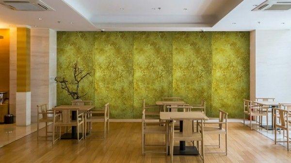 Büro modern einrichten  modern einrichten wanddesign esszimmer patina effekt ...