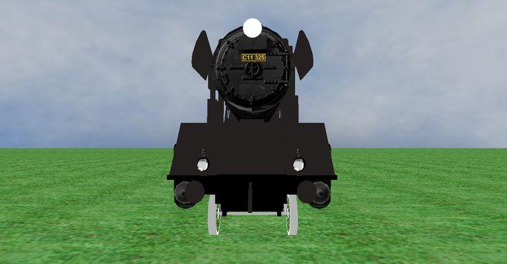JNR C11 steam loco frontview