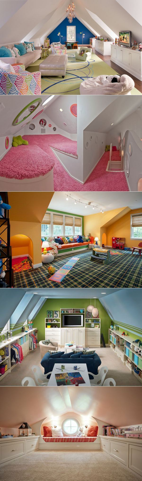 Attic Playroom - | Playrooms, Knee Walls and The Attic