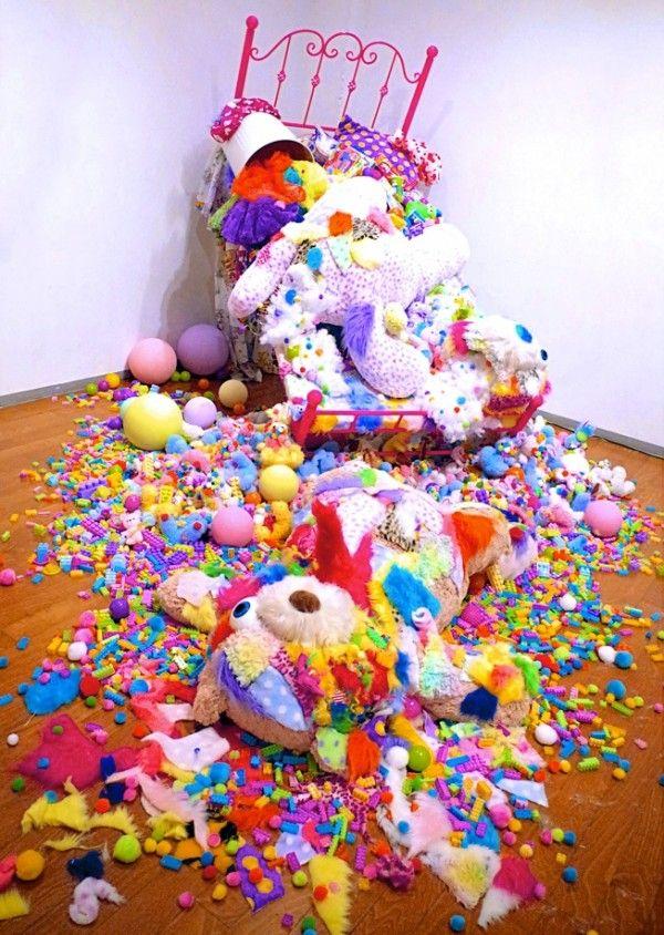 Sebastian Masuda's 'Colourful Rebellion - Seventh Nightmare' at Kianga Ellis Projects for #AsiaWeekNY