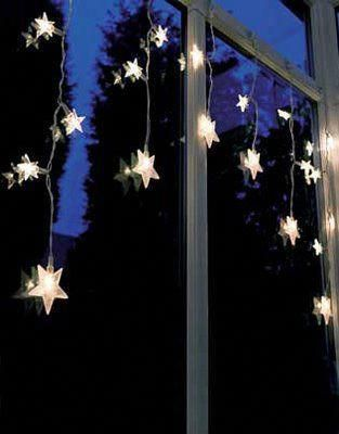 solar powered star lights, good for the fence***** #christmaslightsyard - Solar Powered Star Lights, Good For The Fence