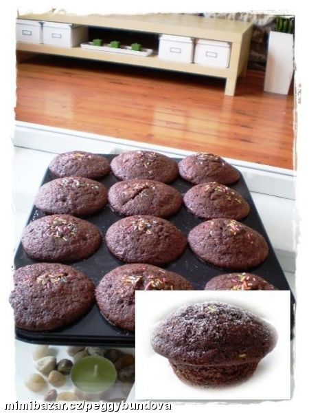 Kávovo čokoládové muffiny nejlepší co jsem zatím jedla