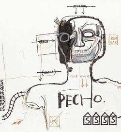 Jean-Michel Basquiat - Pecho, 1983Basquiat .More Pins Like This At FOSTERGINGER @ Pinterest