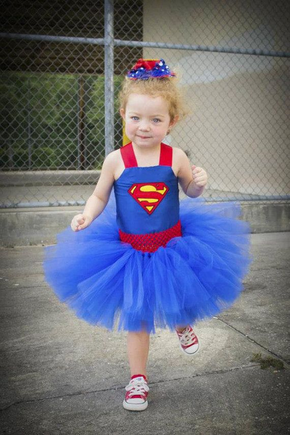 Superman Costume Superman Tutu Dress Satin by TutullyCuteDesigns